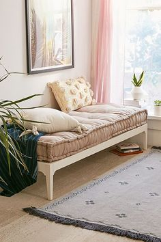 platform daybed urban outfitters results - ImageSearch Home Decor Bedroom, Living Room Decor, Platform Daybed, Daybed Couch, Clearance Outdoor Furniture, Home Interior, Interior Design, Comfy Bed, House Beds