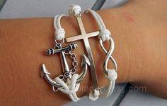 Creative Bracelets, Fashion Jewelry, Leather Bracelets, Anchor