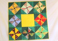 A charityquilt for early born baby, from Dorte Rasmussen´s quiltgroup DK