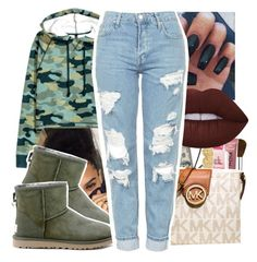 """"""""""" by itssaiv0y ❤ liked on Polyvore featuring UGG Australia and Topshop"""