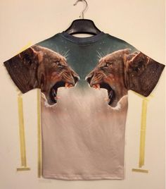 eb0bb0423 Tide brand new short-sleeved t-shirt short-sleeve raglan sleeve T clashing  leopard male hip-hop printing T-shirts