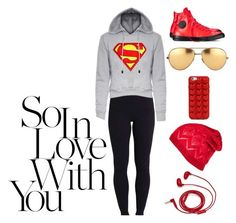 """""""I ❤️ red"""" by armadio-giallo on Polyvore featuring moda, Beyond Yoga, Converse, Marc Jacobs, FOSSIL, Linda Farrow, women's clothing, women, female e woman"""