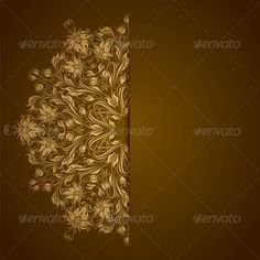 Elegant Background with Lace Ornament  #GraphicRiver         Elegant background with lace ornament and place for text. Floral elements, ornate background. Vector eps10 illustration is fully editable. File contain transparency, radial gradient.     Created: 19May13 GraphicsFilesIncluded: JPGImage #VectorEPS Layered: No MinimumAdobeCSVersion: CS Tags: abstract #art #background #baroque #beauty #border #bright #calligraphic #card #damask #design #elegant #element #fashion #floral #frame #gold…