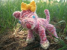 Custom Order  Pink Amigurumi Tiger by WyandotteWears on Etsy, $6.00