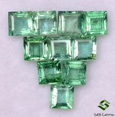 2.26 Cts Natural Emerald Square Cut 3.50 mm Lot 10 Pcs Calibrated Lustrous Loose Gemstones Semi Precious Gemstones, Loose Gemstones, Emerald Gemstone, Natural Emerald, Just Amazing, Jewelry Sets, Nature, 21 Days, Free Shipping