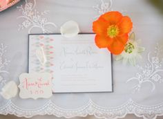 Photography by cocotranphotography.com with Kathryn Murray Calligraphy Invitation and favor tag.