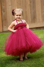 Hot Girls princesa rojo arco de la cinta del vestido del tutú de la muchacha de flor de tul vestidos para la boda de la fiesta de cumpleaños 1pc TT044 (China (continental))