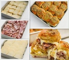 MyFridgeFood - Easy Ham and Cheese Sliders Ham Wraps, Homemade Ham, Great Recipes, Favorite Recipes, 9x13 Baking Dish, Party Dishes, Ham And Cheese, Wrap Sandwiches, Stick Of Butter