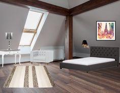 Ook zo'n fan van de landelijke stijl? Laat je dan door deze slaapkamer inspireren. Voeg een leuk opvallende schilderijtje toe voor een vrolijk en speels effect.