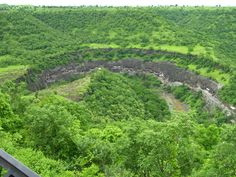 The Ajanta Caves from the nearby hill
