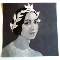 Young lady / Print of original drawing  BLACK AND by tushtush, $25.00