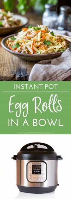 Instant Pot Egg Rolls in a bowl