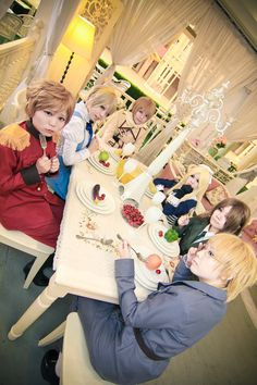Axis Powers Hetalia - Soviet Union cosplay by kushiyaki_group.    Me- russia hair is silver