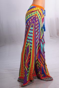 6b2803b16 Colorful Wide Leg Pants