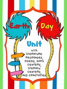 Earth Day Unit with Literacy & Math Centers - First Class Teacher Resources - TeachersPayTeachers.com