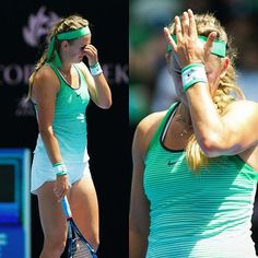 It was this kind of day for Vika #ausopen2016 #quarterfinals