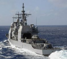 "USS ""Princeton"" (CG 59)-   Ticonderoga – Class Guided Missile Cruiser,Pacific Ocean – February 2, 2008"