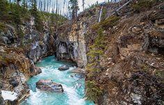 Marble Canyon © Parks Canada KOOTENAY 93south 87km east of Radium Hot Springs