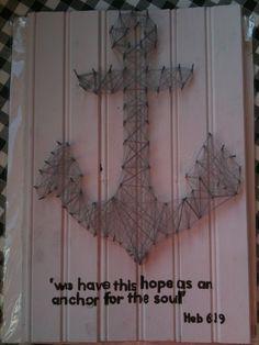 Anchor string art bible verse
