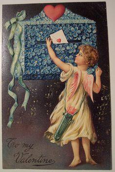 Victorian Valentines, Vintage Valentines, Valentines Day, Vintage Cards, Vintage Postcards, Vintage Images, Valentine Cupid, Saint Valentine, Valentine Cards