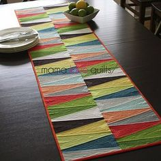 Modern Dresden Quilt Table Runner | FaveQuilts.com