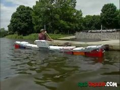 """Red makes house awnings out of car hoods """"Canooler"""" can be found in the 2004 Season of the Red Green Show, Episode 267 titled """"The Statue"""" The Red Green Show, House Awnings, Canoe Trip, We Are Young, Set Sail, One Liner, Water Crafts, Hilarious, Funny"""