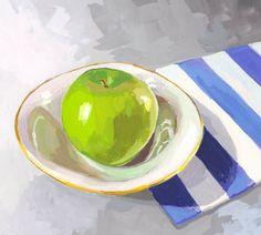 Elizabeth Mayville: Studio Blog: Green Apple