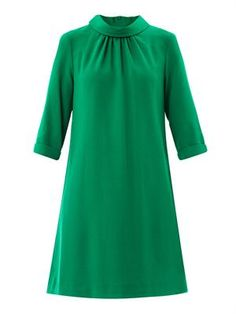 Sabine gathered neckline dress