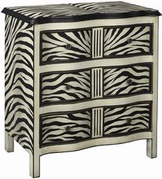 There's always room for a little zebra print | Zebra Accent Chest cort.com
