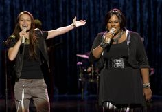 """GLEE: Marley (Melissa Benoist, L) and Unique (Alex Newell, R) perform in the """"The Role You Were Born to Play"""" episode Melissa Benoist Glee, Glee Episodes, Glee Season 4, Alex Newell, Julie Taymor, One Last Kiss, Play Episode, Celebrity Skin, Glee Club"""
