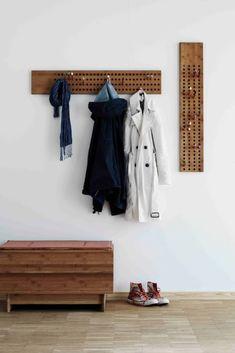 New Natural Wood Furniture Coat Hanger Ideas Hanging Wardrobe, Wardrobe Rack, Natural Wood Furniture, Furniture Ideas, White Carpet, Coat Hanger, Painting Edges, Scandinavian Design, Floating Nightstand