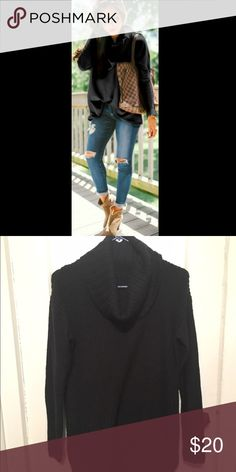 Black cowl neck sweater The perfect cozy sweater for fall, great condition! Sweaters Cowl & Turtlenecks