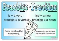 Spelling - Practise or Practice