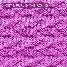 Alternating Welted Leaf - knit and purl in the round. Simply and easy to memorize.