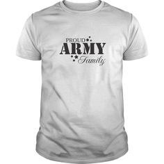 PROUD ARMY FAMILY Show Your Pride! Armed Forces Gear, Patriotic Shirts, Pride, Gifts, Military, Army, Airforce, Navy, Marines, Coast Guard, Tees, United States Veterans, U.S.A., United States of America, T-Shirts, Wife, Girlfriend, Husband, Family, Mom, Dad, Son, Daughter, Quotes, Sayings