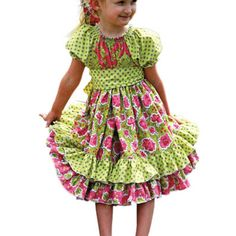 Sewing pattern for a beautiful toddler or girl's Peasant style dress get the pattern http://www.bookdrawer.com/go/sewing-a-twirly-peasant-dress/