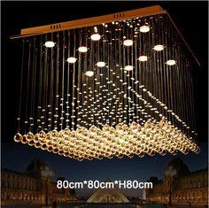 Modern 5,8,12,13 Heads Luxury LED Crystal Ceiling Lights Pyramid Shape Cristal Ceiling Luminaire Lustres De Cristal