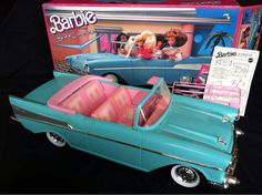 Barbie's '57 Chevy Bel Air Convertible, 1989 Jeannie and I spent hours playing with this...it was our favorite Barbie car!