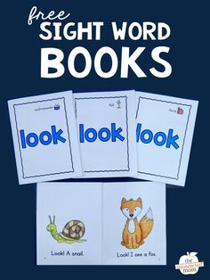 Woodworking Program Print these four free books to help your students learn the sight word LOOK! - Print these four free books to help your students learn the sight word LOOK! Sight Word Booklets, Sight Word Readers, Sight Words Printables, Sight Word Flashcards, Sight Word Worksheets, Free Printables, Word Bingo, Preschool Sight Words, Teaching Sight Words