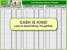 Free cash envelope system template