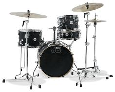 Design Series® Mini-Pro Black Satin Originally designed as a high-end drum set for children, the Mini-Pro became a much talked about kit among DW artists. Its quality construction and scaled-down sizes sounded astonishingly big and it was simply fun to play. Now, the Mini-Pro makes its return as part of the Design Series™ lineup in two configurations with two finish options. Low-mass spurs and a ratchet bass drum mount also come standard. #dwdrums