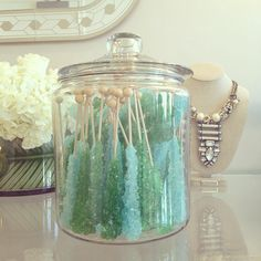 Rock Candy treats, Stella & Dot. The necklace in the back is a Limited Edition piece.