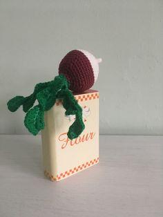 Crochet Food, Play Food, Christmas Ornaments, Holiday Decor, Cotton, Etsy, Amigurumi, Christmas Jewelry, Christmas Decorations