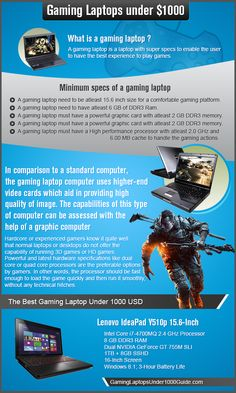 Infographic - Best Gaming Laptop Under $1000 | Gaming Laptops Under 1000 Guide - Cheap Gaming Laptops