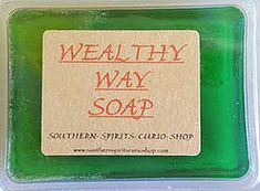 Wealthy Way is a traditional Hoodoo or Conjure formula used to attract luxury and wealth into the users life. The scent is a combination of honeysuckle, floral and pine essential and fragrance oils. The pine blends with the floral in a lovely way and does not run off with the scent.Steeped in the oils and added to the soap base are herbs used for the above purpose  Available At Magickal Necessities https://www.witchesofthecrafts.net/soaps-and-baths