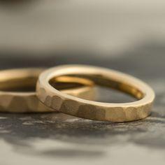 ゴールド,槌目/マリッジリング:Tsutime natsu(槌目 夏) マットな質感で、落ち着いた品格のある槌目リング [K18 Gold,marriage,ring,ウエディング,wedding]
