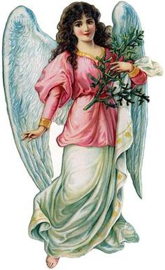 Vintage Victorian Christmas Postcard Printed onto Fabric Victorian Angel | eBay