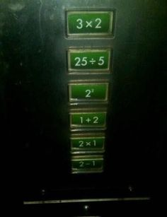 The elevator button