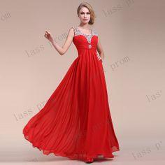 Red Evening Dress, Chiffon Wedding Evening Dress, Beaded Evening Dress, Evening Dress Long, Evening Dresses, Evening Dresses For Wedding