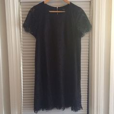 Floral Lace Shift Dress Madewell shift dress with floral lace. Worn once for a few hours. Excellent condition Madewell Dresses